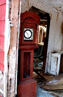 Clock in an abandoned house Nova Scotia