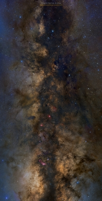 Close-up near the core of the Milky Way  panes mosaic