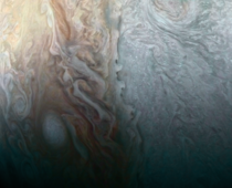 Close up of Jupiter taken by Juno earlier this year