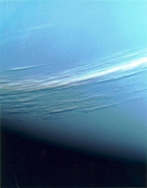 Close up view of Neptunian clouds Taken by voyager  The blue beauty lt
