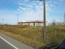Closed and abandoned Esso bulk filling station in Edmonton Taken
