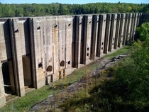 Closed Hydro Dam in Pinawa Manitoba  Gallery in comments