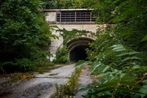 Closed since  the now abandoned and overgrown rays hill tunnel Bedford Pennsylvania USA