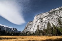 Cloud formations at Yosemite