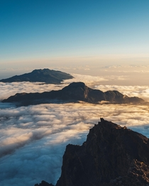 Cloud inversion is my favorite natural phenomenon Roque de los Muchachos La Palma Spain