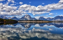 Clouds in the Lake - Chapel Bay in Grand Teton National Park USA  by Jeff Clow x-post rUnitedStatesofAmerica