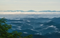 Clouds on the Blue Ridge Mountains in North Carolina OC x