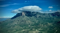 Clouds over El Capitan Guadalupe Mountains National Park