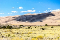 Clouds over High Dune Great Sand Dunes National Park Colorado United States