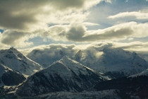 Clouds over Mountains in Disentis Switzerland