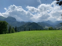 Clouds over Tatra Mountains during a sunny day