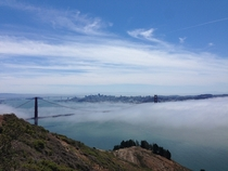 Clouds over the Golden Gate Bridge San Fransisco