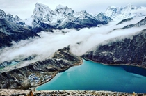 Clouds Rolling into Gokyo Valley up in the Himalayas