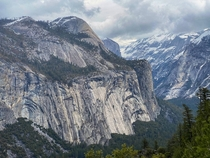 Cloudy day in Yosemite Valley