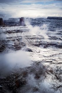Cloudy Dead Horse Point in Utah