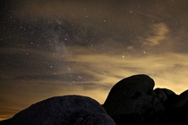 Cloudy Milky Way in Joshua Tree NP