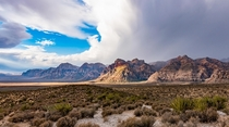 Cloudy Skies at Red Rock Canyon National Park  OC