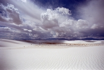 Cloudy White Sands