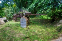 -cm WWII Japanese Artillery - Pohnpei Micronesia