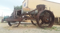 Coal fired steam tractor Goldfield Nevada USA early s era