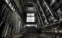 Coal furnaces in abandoned coal powerplant
