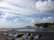 Coast of South Taranaki New Zealand