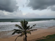 coastal line before rain in Matara Sri Lanka   x