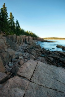 Coastline in Acadia National Park Maine -