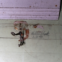 Coat hook in a  WV Schoolhouse Abandoned