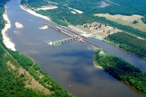Coffeeville Lock and Dam on the Tombigbee River