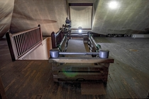 Coffin Lowering Device found in the attic of an abandoned funeral home OC -