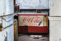 Coke versus Pepsi a choice in this abandoned Japanese hotels ballroom