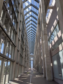 Colannade of the National Art Gallery of Canada designed by Moshe Safdie in Ottawa Ontario Canada x