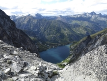 Colchuck Lake seen from the top of Aasgard Pass