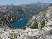Colchuck Lake WA from the top of Aasgard Pass