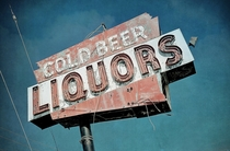 Cold Beer Liquors Sign in East Brunswick New Jersey by Dave Williams