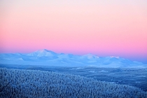 Cold mountain landscape of Rondane Norway