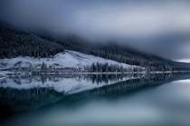 Cold Reflection in Spray Lakes Canada
