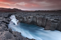 Cold River - a glacial river cutting through the Icelandic landscape near Hsafell in Borgafjrur  by rvar Atli orgeirsson