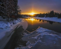Cold sunset in Bend Oregon