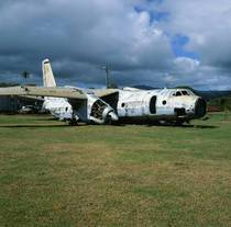 Cold war era Russian plane rotting away on abandoned airport since the US invasion of Grenada in