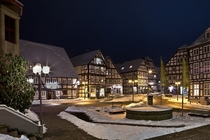Cold winter night in Korbach Germany