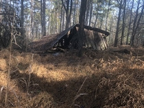 Collapsed Barn I saw this morning along the Mountains to Sea Trail