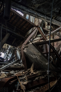 Collapsed elevator shaft Detroit Mi
