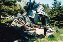 Collapsed house Nova Scotia