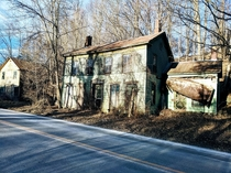 Collapsing houses by the roadside Potter Hollow NY