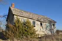 Collapsing One-Room School House near Osawatomie Kansas