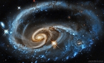 Colliding Galaxies Make For A Spectacular View