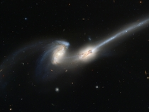 Colliding galaxies nicknamed The Mice NGC