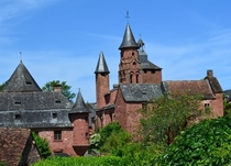 Collonges-la-Rouge a medieval village in France integrally built with red stone